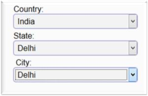 jQuery Based Country State City List